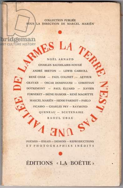 Front cover of 'La terre n'est pas une vallée de larmes', 1945 (colour litho)