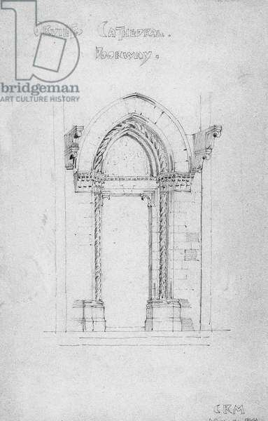 Orvieto Cathedral Doorway, 1891 (pencil on paper)