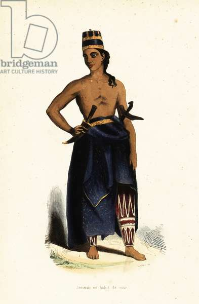 Javanese man in court dress