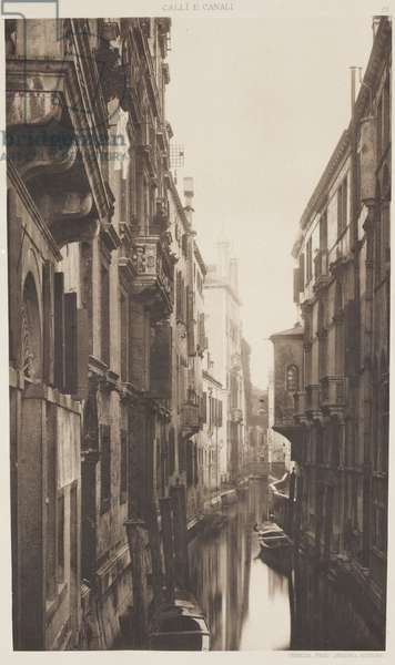 Albrizzi Canal, 1891 (photogravure)