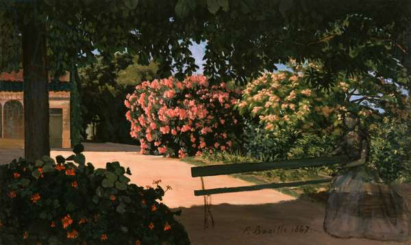 Les Lauriers Roses, 1867 (oil on canvas)