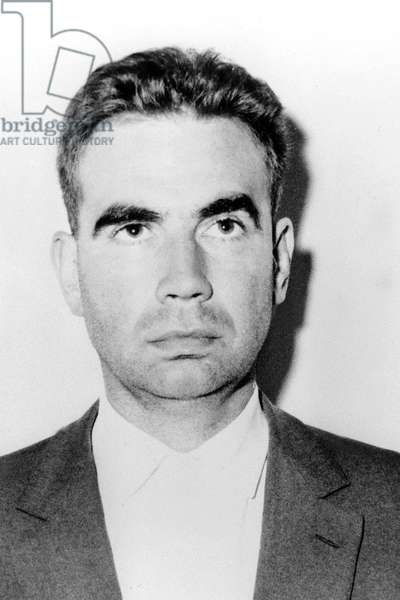 Jean Marie Bastien Thiry, Organizer of The Assassination Attempt Against French Fresident De Gaulle in Petit Clamart September 8, 1962 : Action of Oas (French Terrorist Organization Opposed To Algerian Independence) After The Evian-Agreements, in The Context of The End of The War in Algeria (b/w photo)