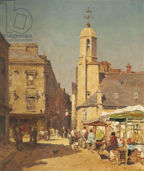 Old St Matthew's church, Douglas, 1882 (oil on canvas)