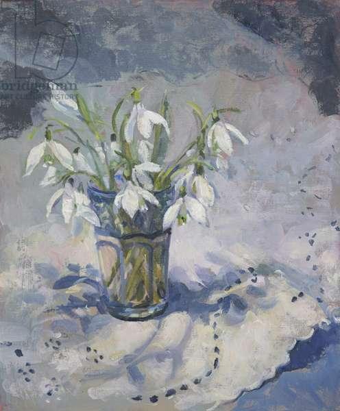 Snowdrops, 2013, (oil on board)