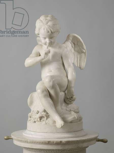 Seated Cupid, 1757 (marble)