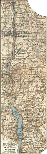 Map of the Hudson River, New York