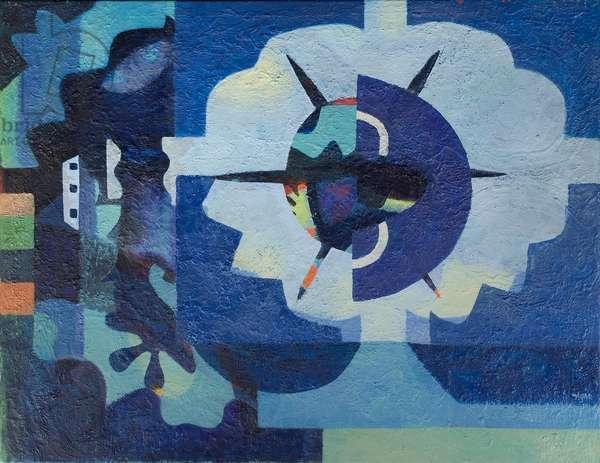 Warlike, 1980 (acrylic on canvas)