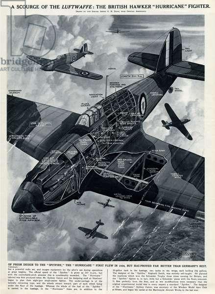 British Hawker Hurricane fighter by G. H. Davis