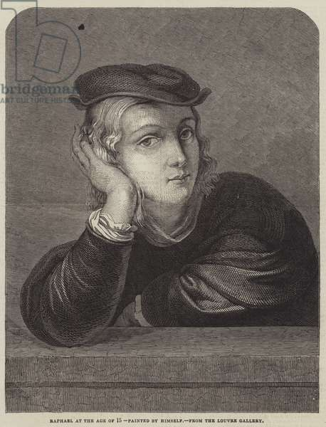 Raphael at the Age of 15 (engraving)