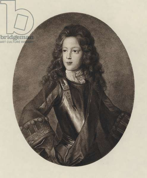 Prince James Francis Edward Stuart (litho)