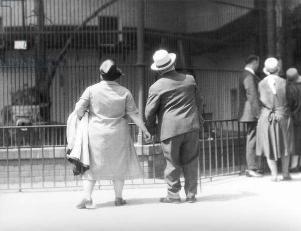In the Zoological Garden, Berlin, Germany, 1930 (b/w photo)