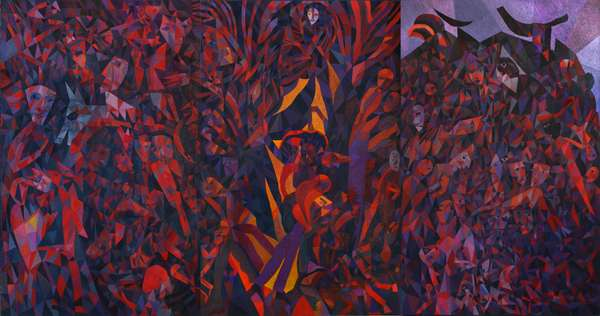 Split Tree, 1991 (oil on canvas)