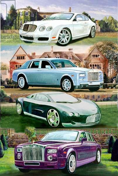 Luxury Cars, 2012 (oil on panel)