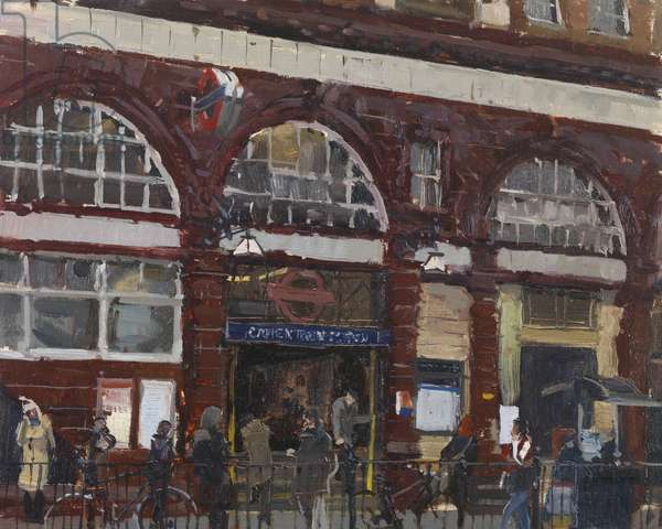 Camden Town Station, 2011 (oil on board)