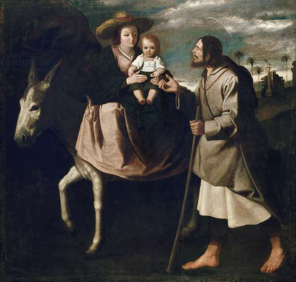 The Flight into Egypt (oil on canvas)