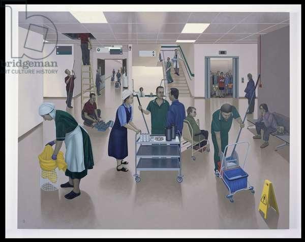 The Hospital Works, 2003 (oil on linen)