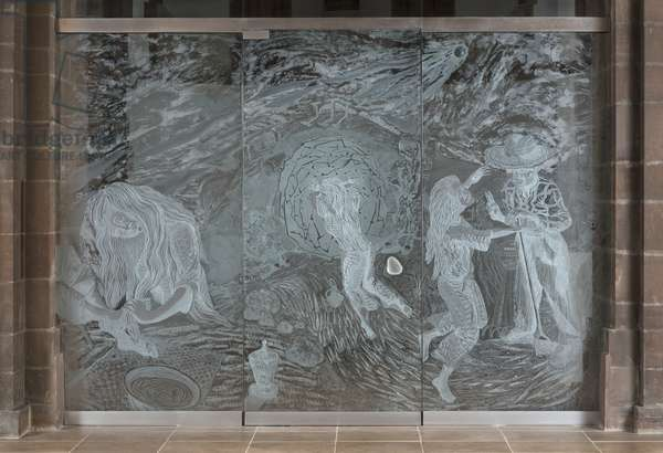 The Mary Magdalene screen, 2015 (etched and engraved glass)