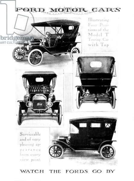 AUTOMOBILE ADVERTISEMENT Advertisement for the Ford Model T, 1912.