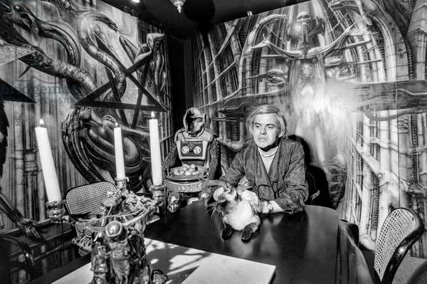 Switzerland Art Hr Giger, 1979 (b/w photo)