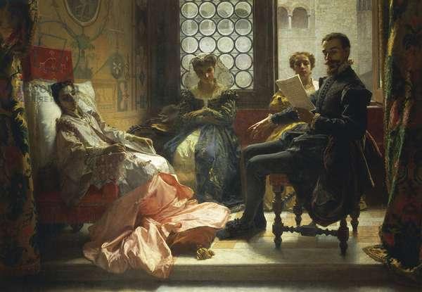 Torquato Tasso reading Liberated Jerusalem to Eleonora d'Este, 1865