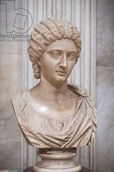 Bust of a princess of the Severian period, 210-230 AD (marble)