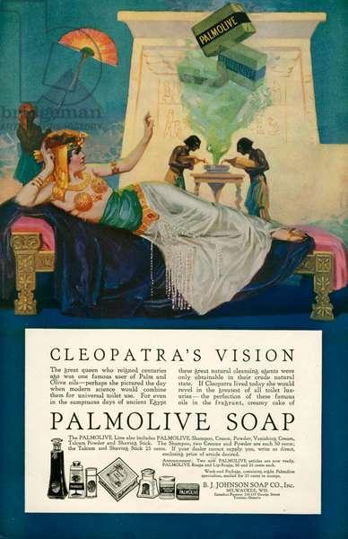 Magazine advert for Palmolive, 1917 (colour litho)