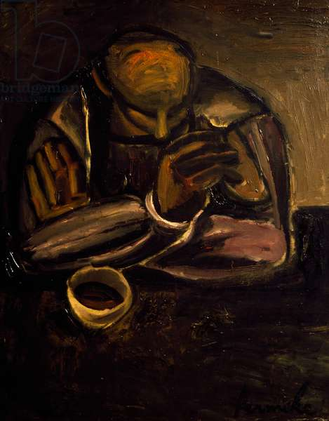 Man with cup, 1924, by Constant Permeke (1886-1952). Belgium, 20th century.