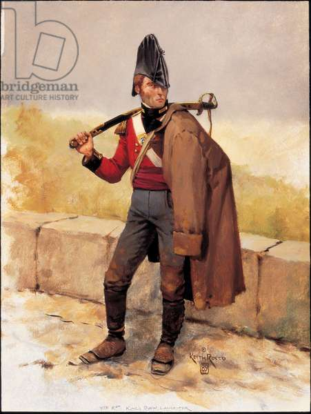 Officer: British Line Infantry in Portugal and Spain 1808 , 1989 (oil on board)