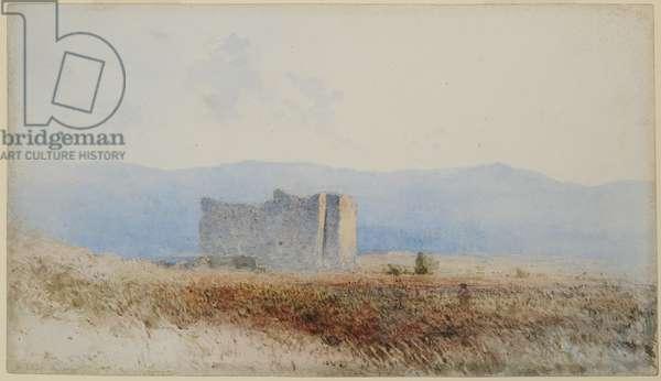 Buit's Castle, near Bewcastle, 1840-58 (w/c on paper)