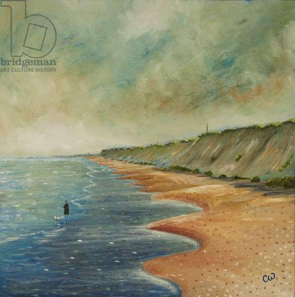 Bacton Beach, 2012, (oil on panel)