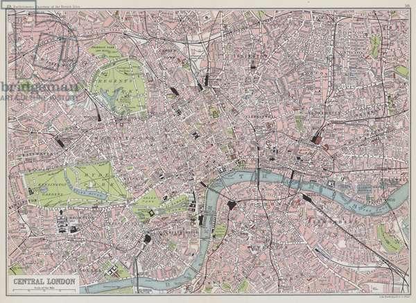 Central London (colour litho)