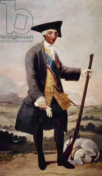 Charles III of Spain (1716-1788). King of Spain and de Spanish Indies from 1759-1788. Portrait by Goya, 1786-1788. Spain