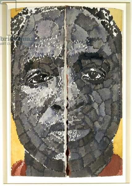 Fold, Unfold: Self-Portrait, 1991 (w/c on paper)