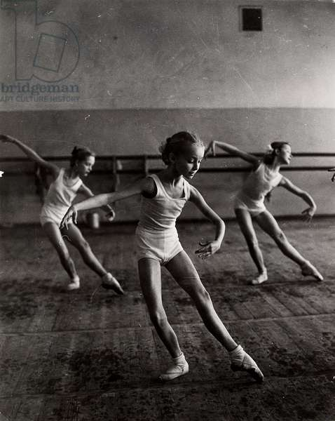 Bolshoi Ballet School, Moscow, 1964 (b/w photo)