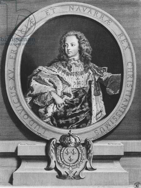 Louis XV as a child (engraving)