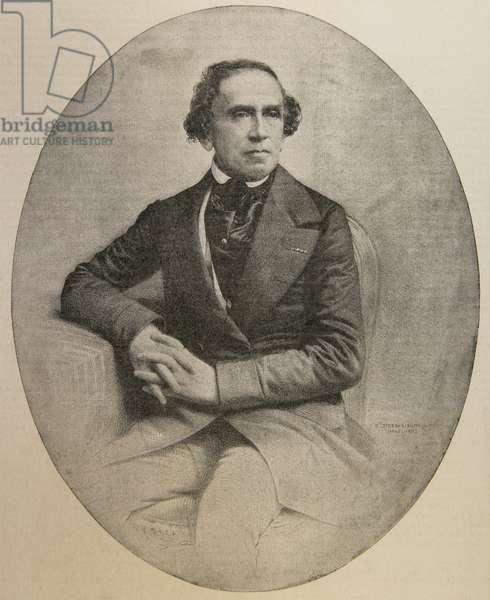 Giacomo Meyerbeer (1791-1864). German composer. Portrait (engraving)