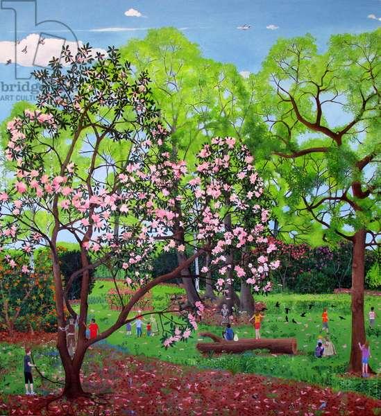 Climbing Trees Pink, 2014 (oil on linen)