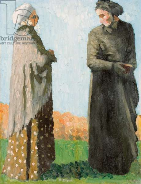 Peasants in Sunday Dress, 1890 (oil on canvas)