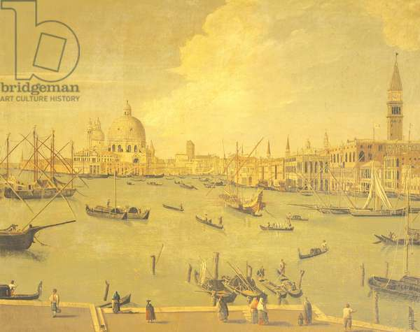 View of St Mark's Basin from San Giorgio island, painter from the Francesco Guardi school, Italy, 18th Century