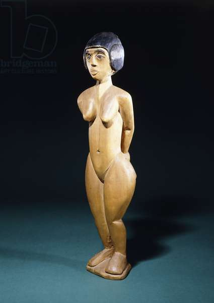 Standing Girls; Stehendes Madchen, c.1914-1915 (hand-painted carved wood)