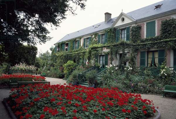 Garden of the house of Claude Monet (1840-1926), Giverny, Haute-Normandie, France