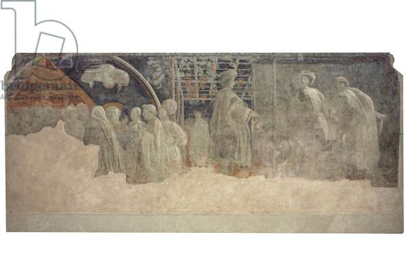 Sacrifice and Drunkenness of Noah, 1425-1430 (fresco)