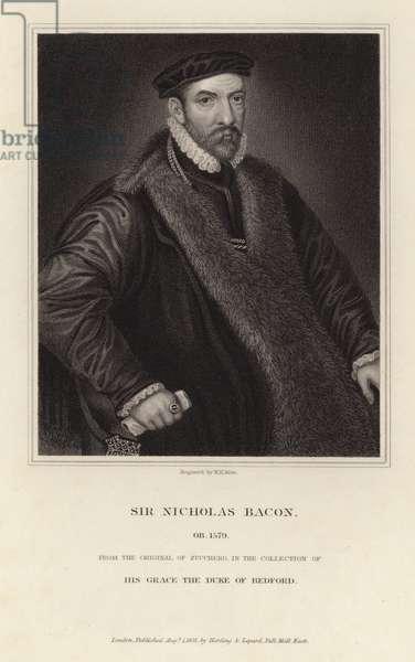 Portrait of Sir Nicholas Bacon (engraving)