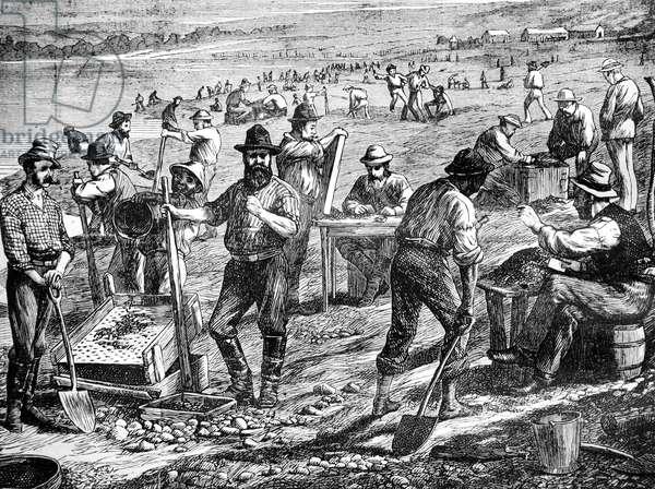 Diamond Mines Cape of Good Hope Argentina, 1877 (engraving)