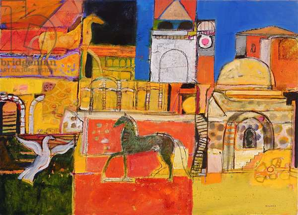 Etruscan Country (oil on canvas)