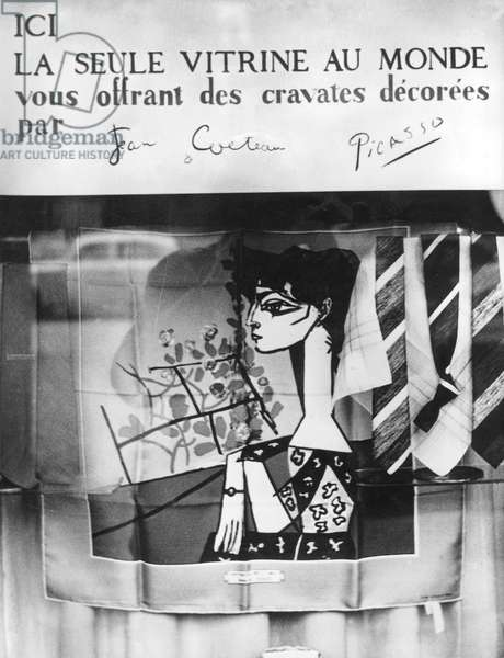 Parisian Shop Where You Can Buy Scarfs and Ties Designed By Jean Cocteau and Pablo Picasso September 16, 1960