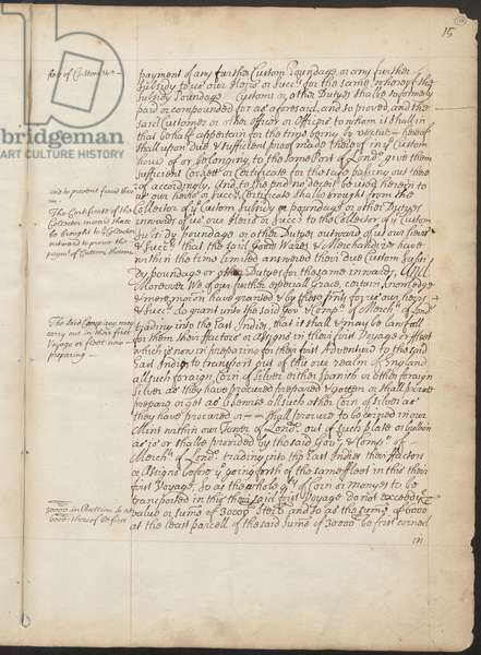 East India Company Charter, Page 15, Copy Letters Patent of Elizabeth I granting to the Earl of Cumberland and 215 others the power to form a corporate body to be called the