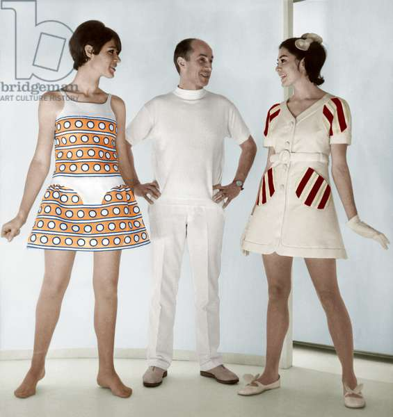 Andre Courreges and his Creations on January 26, 1968 (photo)