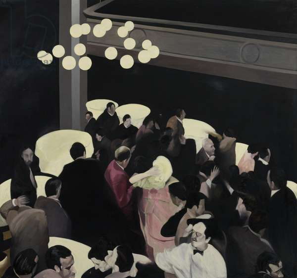 Untitled (Party Scene triptych right), 1993-96 (oil on canvas)