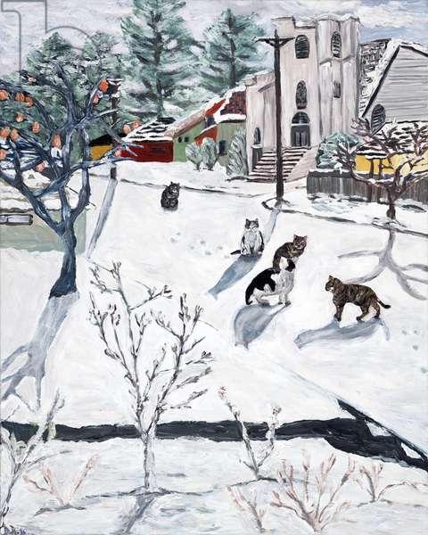 Winter, 2018, (acrylic on canvas)